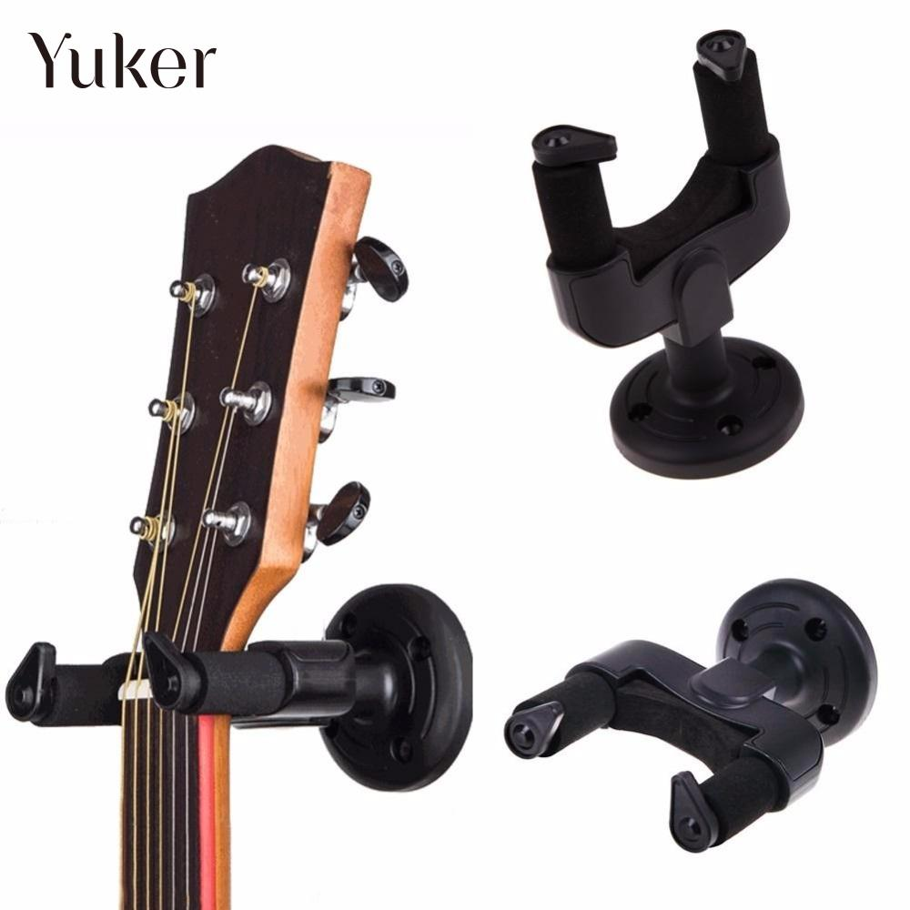 купить Yuker Wall Hanger Rack Hook for Guitar Bass Ukelele Easy Installation Universal Compact Space-saving Wall Mount Hook Holder онлайн