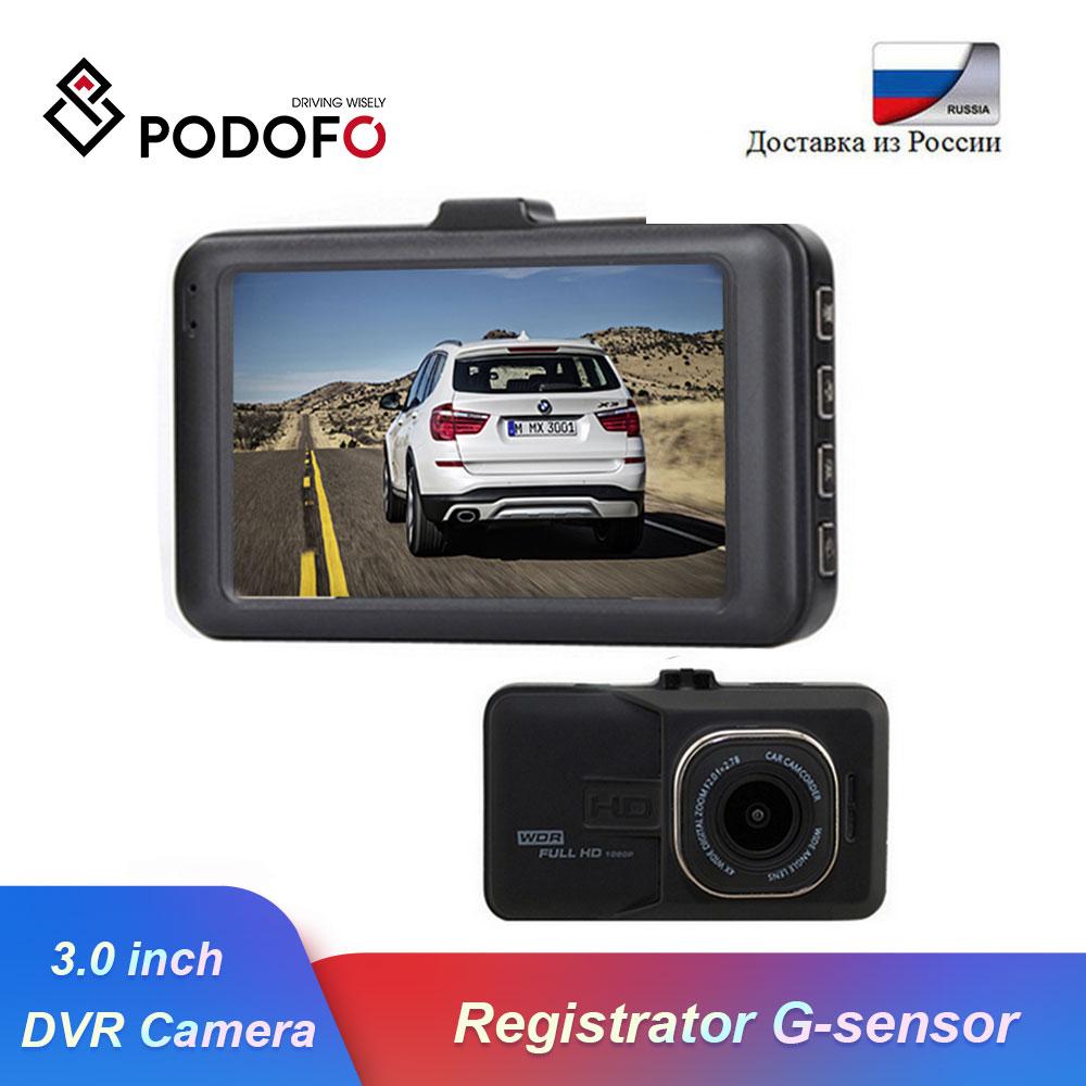 Podofo Car DVR Camera Dash-Cam Novatek 96223 Registrator Video-Recorder G-Sensor 1080p