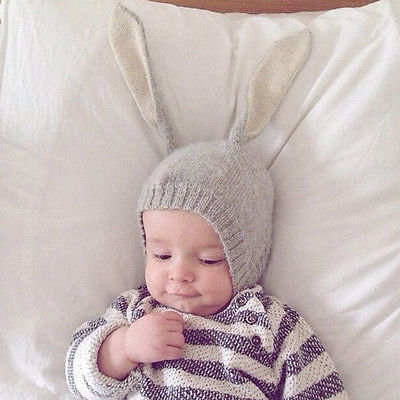 bfea400fc45 placeholder Toddler Kids Girl Boy Baby Infant Winter Warm Crochet Knit Hat  Beanie Cap Scarf Cute Bunny