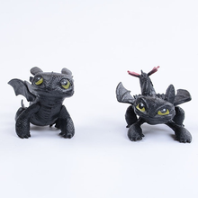 7cm Dragon Master Toothless Dragon Cartoon Doll Ornaments Night Fury Plush Toy Toothless Stuffed Doll Toy Gift for Children 2019 printio toothless dragon wall stickers