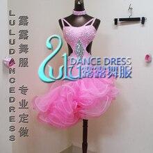 Women Rhinestone & Feather Cha Cha/Ruma/Samba/Ballroom Latin Dance dress Latin Costume Latin ballroom dancing dress latin dance
