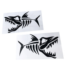 2 Pieces Fish Kayak Decal/Sticker For Fishing Boat/Car/Truck/Window Kayak Sticker Waterproof Accessories(China)