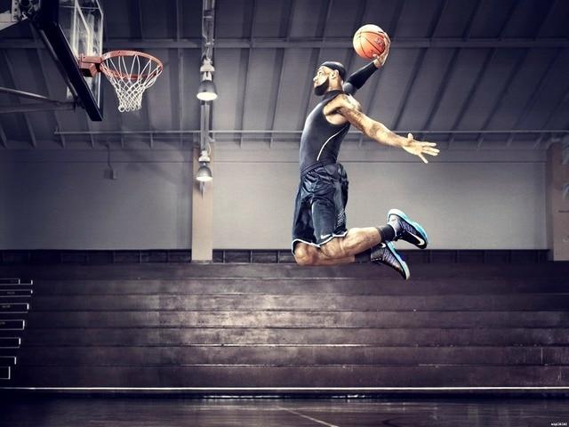 best cheap 82277 02cbc Lebron James Slam Dunk Basketball wall print poster 24