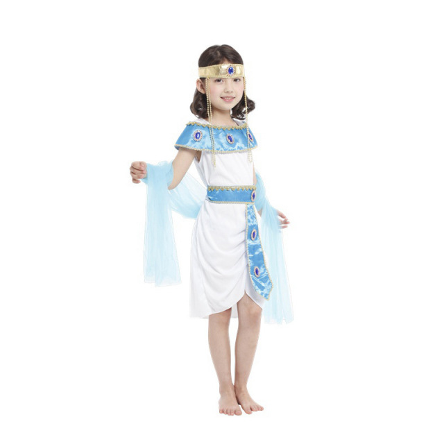 white dresses cosplay costumes girls cleopatra the queen of the nile egyptian princess halloween fancy dress