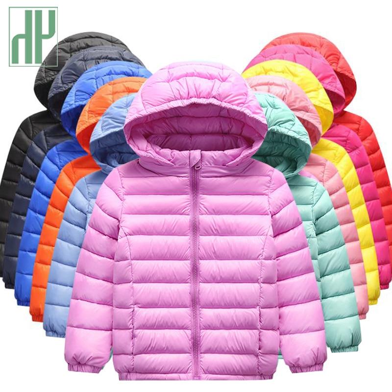 HH niñas niños ropa pato abajo chaqueta de los niños ropa de moda abrigo de invierno con capucha chaquetas para niños adolescentes prendas de vestir exteriores