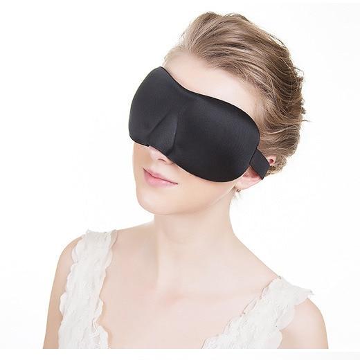 23*7.5cm Sleep Mask Black 3D Soft Sleeping Eye Mask Night Care Breathe Massager Slaapmasker Antifaz Blindfold Eyes Cover