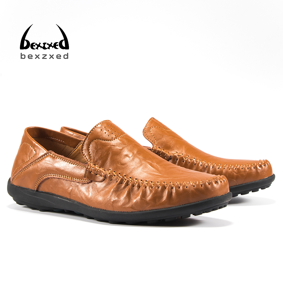 Bexzxed big slip on casual men loafers spring and autumn mens moccasins shoes genuine leather men's flats shoes dxkzmcm new men flats cow genuine leather slip on casual shoes men loafers moccasins sapatos men oxfords
