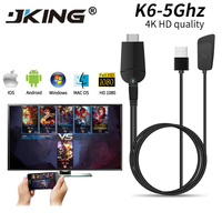 Mirascreen k6 5Ghz TV Dongle Dual Band 2.4GHz 5.8GHz 4K HD WiFi Miracast Airplay DLNA TV Stick 4K HD EZCast WiFi display dongle