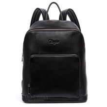 Brand luxurious males's leather-based backpack style males fashionable real leather-based backpack male enterprise journey leather-based backpack