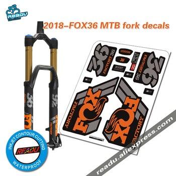 2018 di volpe di fabbrica 36 mountain forcella della bici adesivi MTB velocità verso il basso mountain volpe 36 ultime forcella anteriore decalcomanie