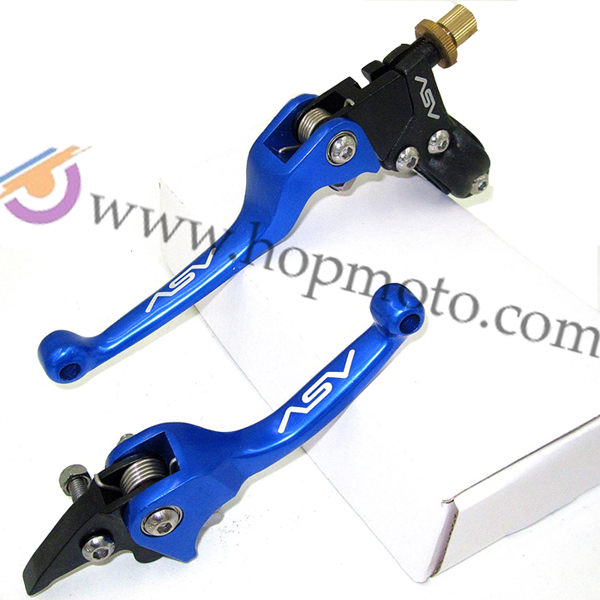 ASV Clutch and Brake Folding Lever Fit Most Of Motorcycle Dirt Pit Bike Motorcross CRF KLX YZF RMZ Free Shipping Blue Colour asv clutch and brake folding lever for dirt bike pit bike off road motorcycle motocross spare parts
