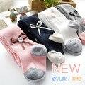 Nuevo estilo de otoño niños chicas bow rayas pantimedias niños infantil del bebé hembra 0-3 años 4 colores blanco apretado