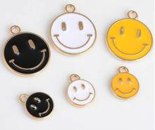 3 pcs/pack Three Colors Smiley Charms Alloy Drops of Oil Charms Pendant Necklace Bracelet Earrings DIY Jewelry Accessories(China)