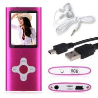 Free Shipping Free Gift Real 8GB 16GB Capacity Slim 1 8 LCD 3th MP3 MP4 Player