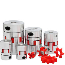 CNC Motor Jaw Shaft Couplers Flexible Spider Plum Shaft Coupling D20 L25 4mm 5mm 6mm 6.35mm 8mm 9mm 10mm Elastic Coupling