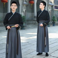 Chinese ancient Costume Hanfu Male Traditional men Clothes Martial arts clothing Film TV Party Stage Performance garment