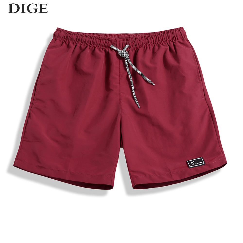 2018 New Summer Shorts Men Breathable Casual Shorts Mens Bermuda Knee Length Elastic Wai ...