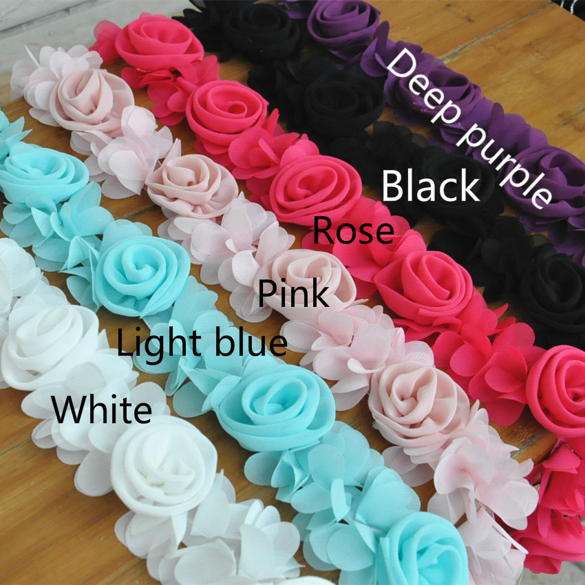 3 yard lot lace fabric diy chiffon flower clothes lace for Fabric for children s clothes