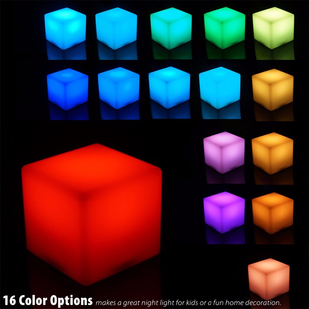 Com buy 10cm cube decorative battery operated rgb led table lamps - Aliexpress Com Buy New Design Magic Dice Led Luminous Square Night Light Rgb Led Table Lamps Night Light With Motion Sensor For Home Party Decor From