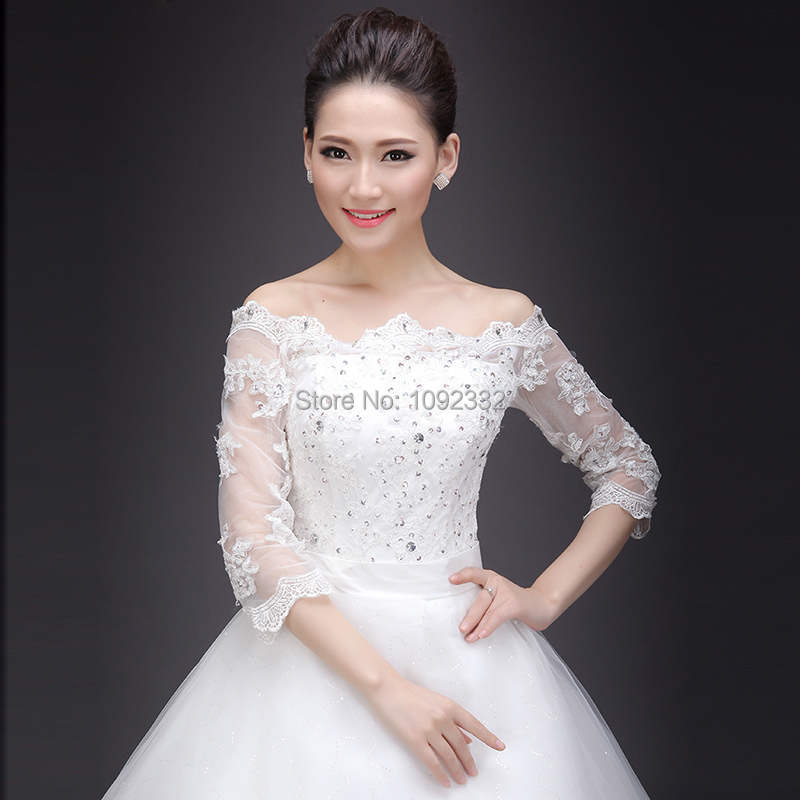 S w 2016 new stock bridal gown plus size women wedding for Modern long sleeve wedding dresses