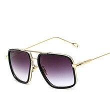 Classic Brand Designer Men Women Luxury Sunglasses Celebrity Oversized Gold Eyeglasses Mirror Sun glasses for Oculos de Grau