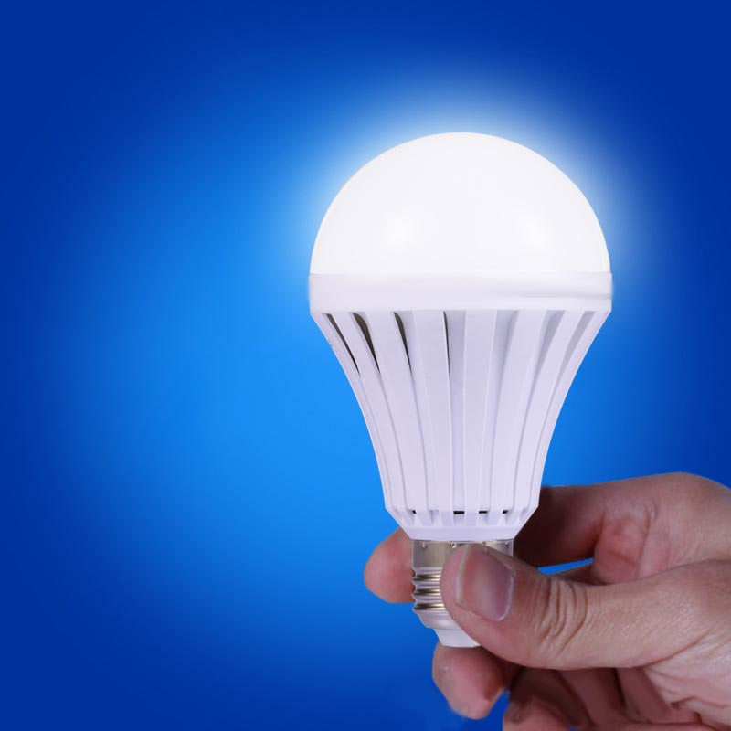 5/7/9/12/15W LED E27 Emergency Light Bulb Rechargeable Outdoor Camping Intelligent Lamp ALI88 brightinwd led e27 energy saving rechargeable intelligent light bulb lamp emergency lights
