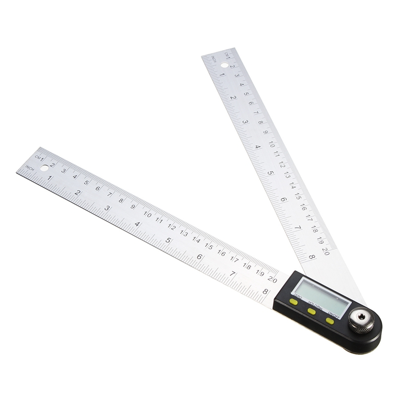 200mm Digital Protractor Inclinometer Goniometer Level Measuring Tool Electronic Angle Gauge Stainless Steel Angle Ruler  elecall 200mm digital protractor inclinometer goniometer level measuring tool stainless steel waterproof electronic angle gauge