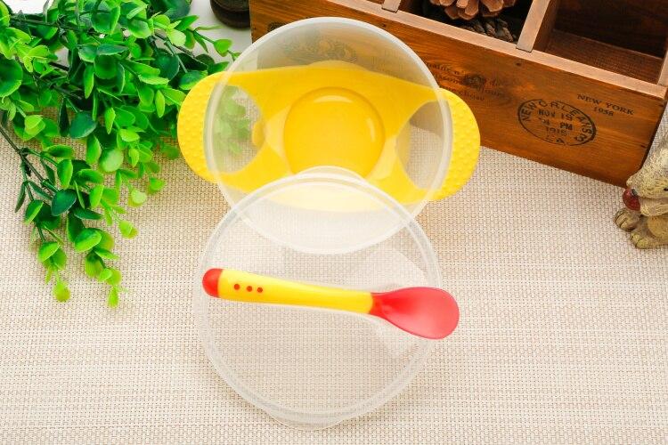 3 шт./компл. детская обучающая посуда с присоской детский спасательный набор посуды для оказания помощи чаша Температура зондирования ложка вилка Посуда