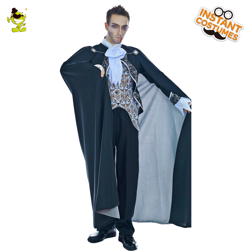 Men's New Vampire Costume Halloween Medieval Renaissance Costume Halloween Party Cosplay Scary Vampire Costumes Larp Cape