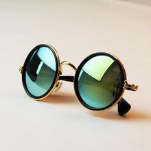 Free shipping 2014 New Fashion glasses Women men Fashion retro  roundness colours Sunglasses summer 7 colors glasses