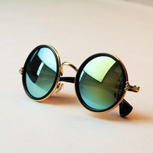 Free shipping glasses New Fashion glasses Women men Fashion retro  roundness colours Girls Sunglasses summer colors glasses