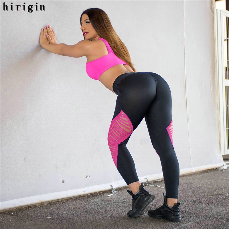 62c6ebc522558b Women Yoga pants Top Quality High Elastic Waist Thick Material Exercise 4  way Stretch Fabric Sports Skinny leggings -in Yoga Pants from Sports ...