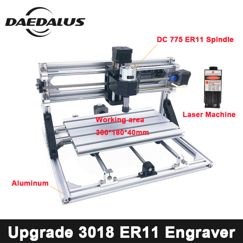 3018 Engraver CNC Laser Cutter DC775 Motor Diy Engraver Machine Engraver Tool Wood Router GRBL Control For Milling Woodworking