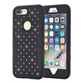 Strass luxo caso para iphone 7 iphone 7 plus bling do híbrido diamante de volta shell capa protetora para o iphone 6 6 s 6 plus 6 splus