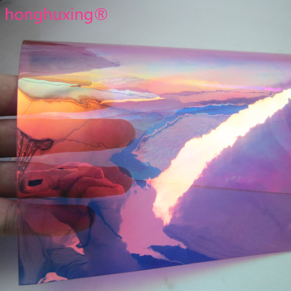 Synthetic Leather Smart A4 Sheet 8x 11.8 Pink Iridescent Pvc Transparent Pvc Clear Pvc For Bow Diy Project 1piece F0003 Exquisite Craftsmanship;
