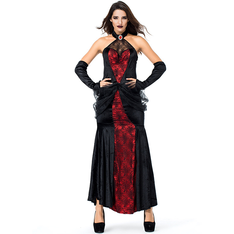 New Halloween Spider Queen Cosplay Costume Stage Performance Clothing Spider Banshee High Quality Vampire Queen L18817120