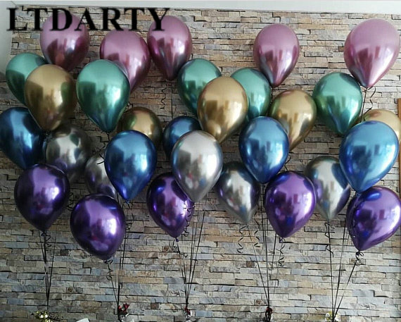 10PCS 12inch Silver Gold Latex Pearly Metal Balloons For Wedding And Birthday Party 1