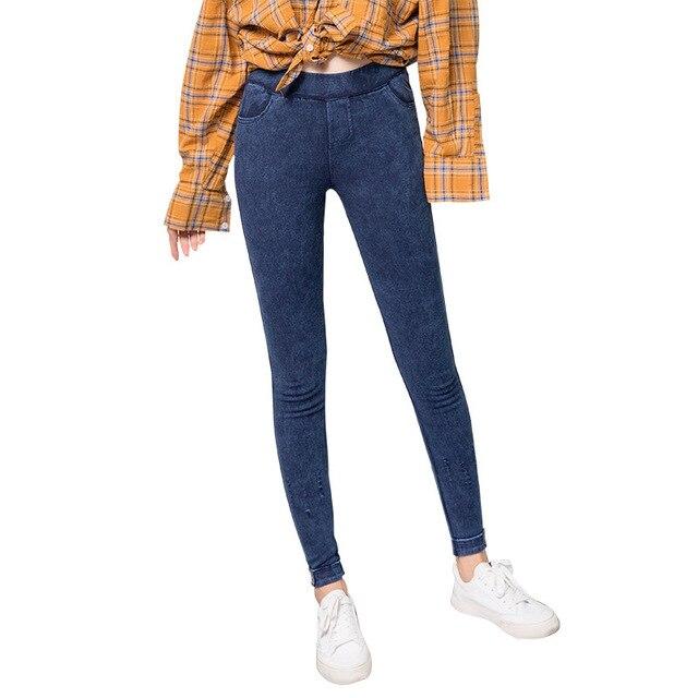 f3ec92d575d5 Со скидкой Высокая талия рваные обтягивающие женские джинсы карандаш ...