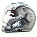 Tactical Gris IRON MAN War Machine Iron Man casco Masei casco de la motocicleta medio casco open face casco ABS casco de motocross