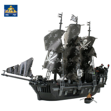 KAZI Pirates Of The Caribbean Black Pearl Ghost Ship Model DIY Building Blocks Educational Toys For Children's Bricks Gifts недорого