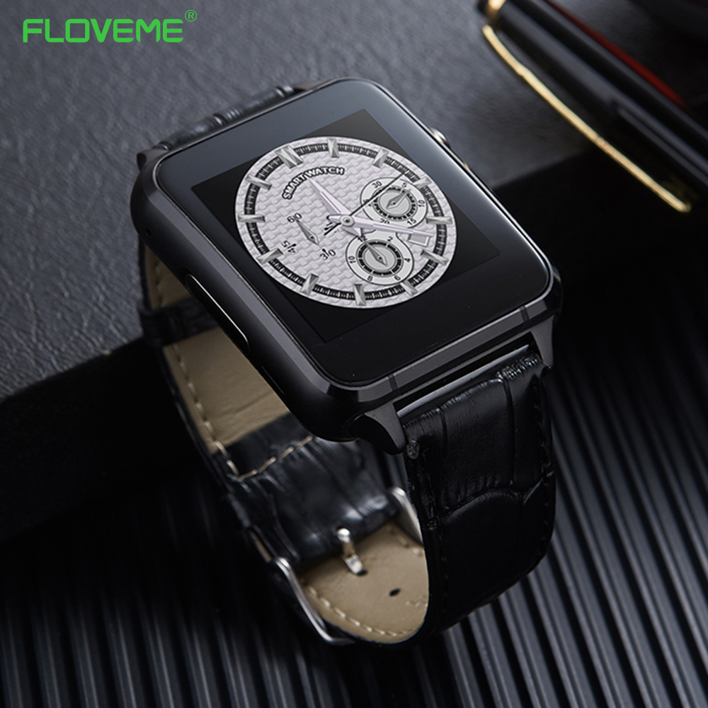 FLOVEME Bluetooth 3.0 Smart Watch Pedometer Anti Lost SIM Card Support E7 Smartwatch For Android IOS Smartphone SIM Heart Rate