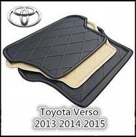 Trunk Tray Liner Cargo Mat Floor Protector foot pad mats For Toyota Verso EZ 2013 2017 (Black Beige)|mat floor -