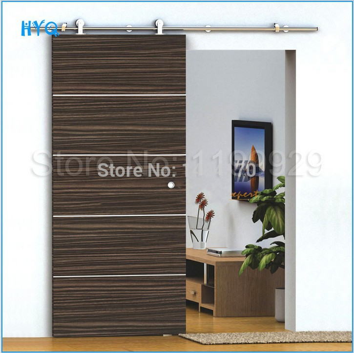 Stainless Steel Wood Barn Door Hardware For Modern Wood Interior