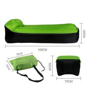 Image 2 - VILEAD 5 ألوان سريعة للطي كسول أكياس التخييم المهد كيس للتمدد أريكة هوائية قابلة للنفخ بساط نوم سرير هوائي الشاطئ صالة حقيبة المحمولة