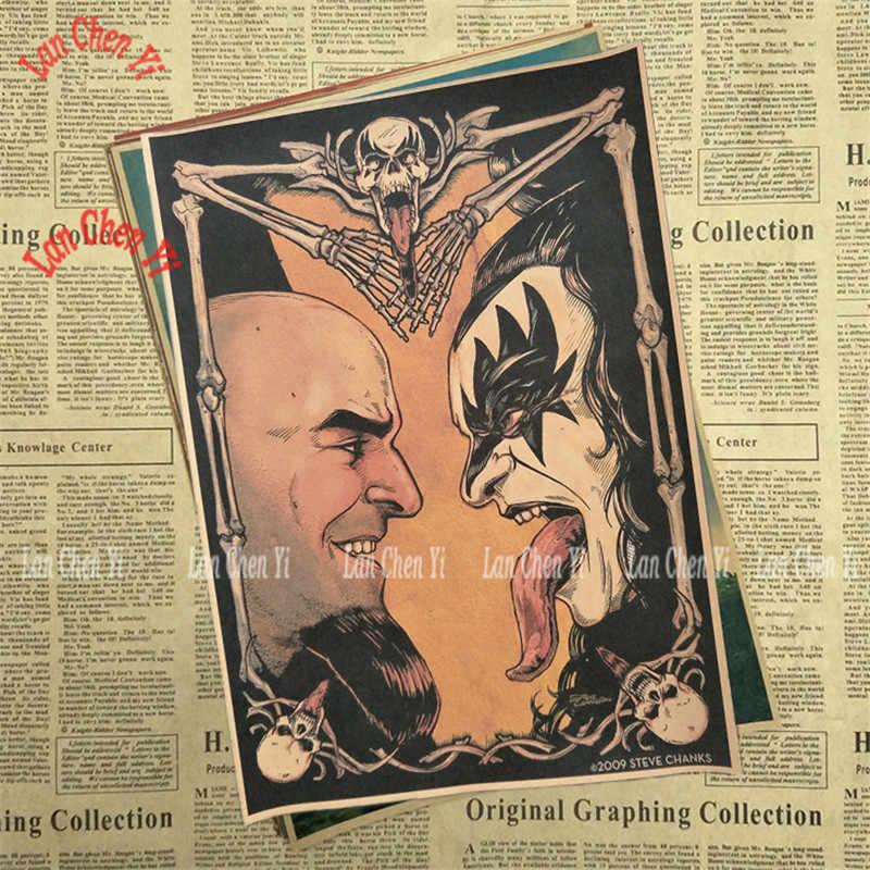 Nostalgia Retrò Rock Band Musica Poster BACIO Cafe Creativo carta da parati Decorazione di Interni