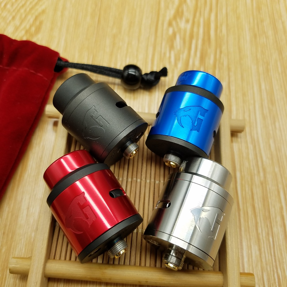 CYAN Original Lostart RDA atomiseur 24mm BF Squonk 510 broches Top remplissage Vape e Cigarette réservoir VS GOON 528 Lostart V1.5 RDA