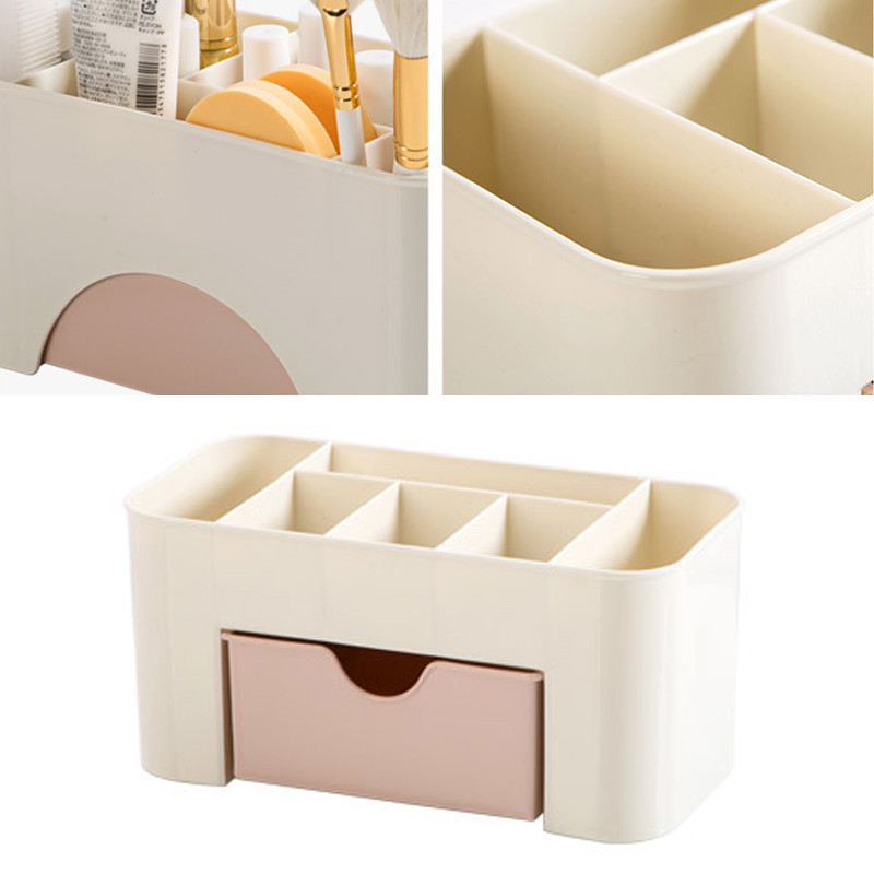 Combinable DIY Drawer Desk Organizer Cosmetic Storage Box Makeup Organizer Box Jewelry Makeup Cosmetic Stationery Case TSLM1