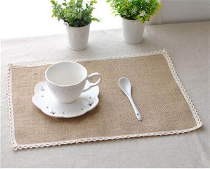 Au Natural Hessian Jute Burlap Table Placemats Rustic Home Wedding Decor Crafts Mats Pads Aliexpress