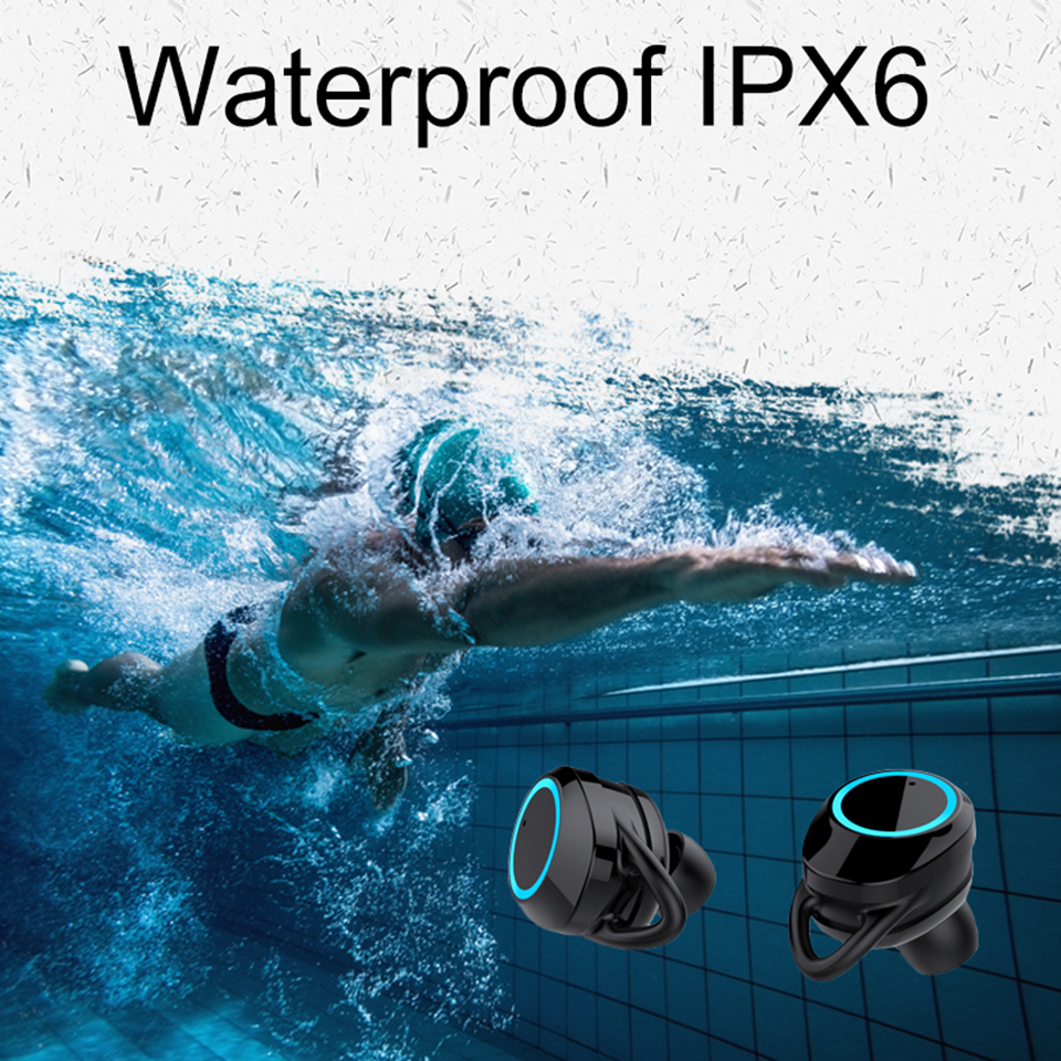 Person - Portable IPX6 Waterproof Bluetooth 5.0 Mini Wireless Earbuds