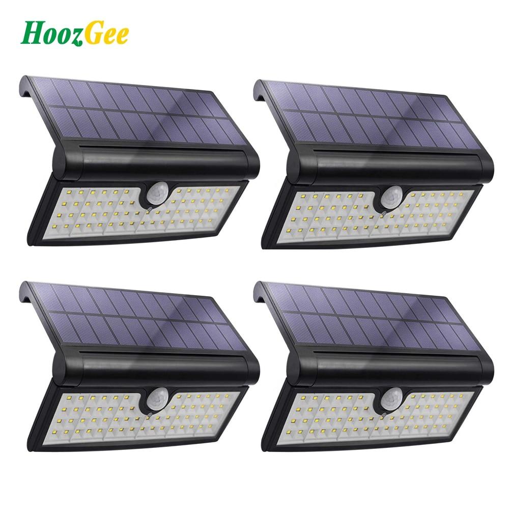 HoozGee Mur Solaire Lumière Extérieure Jardin Super Lumineux 58 Feux Capteur de Mouvement LED Porche Lampe avec Large Zone D'éclairage de Sécurité